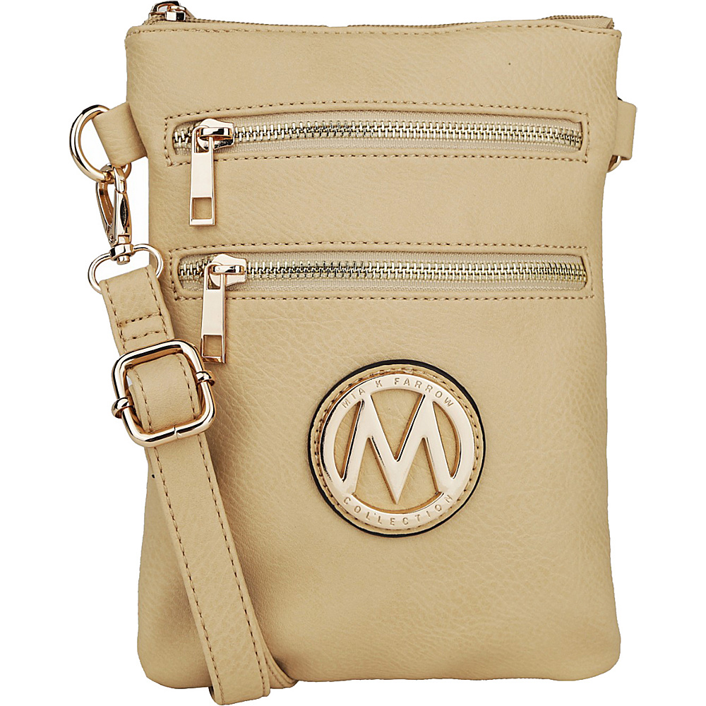 MKF Collection by Mia K. Farrow Medina Crossbody Beige - MKF Collection by Mia K. Farrow Manmade Handbags - Handbags, Manmade Handbags