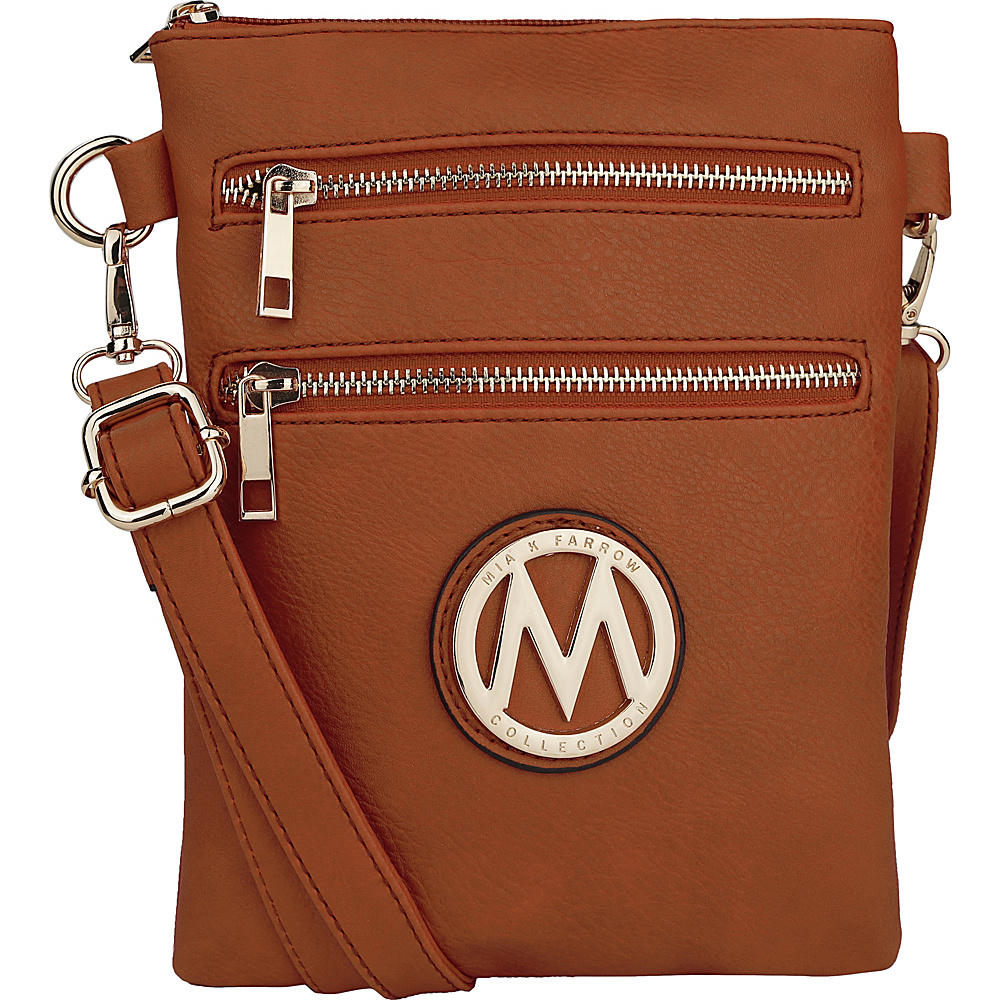 MKF Collection by Mia K. Farrow Medina Crossbody Cognac Brown - MKF Collection by Mia K. Farrow Manmade Handbags - Handbags, Manmade Handbags
