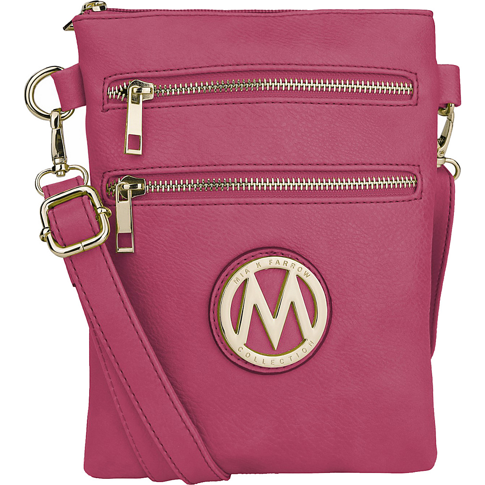 MKF Collection by Mia K. Farrow Medina Crossbody Fuchsia - MKF Collection by Mia K. Farrow Manmade Handbags - Handbags, Manmade Handbags