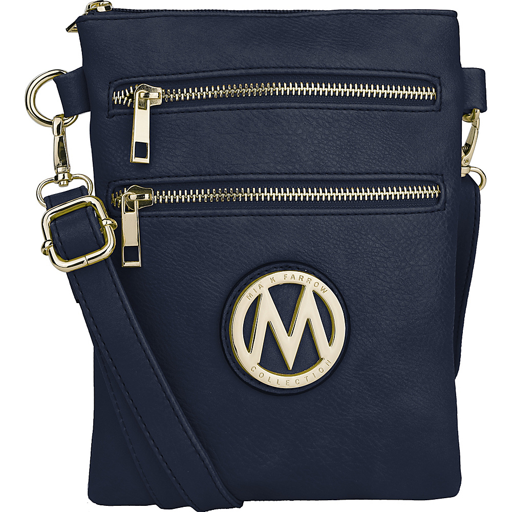 MKF Collection Medina Crossbody Navy - MKF Collection Manmade Handbags - Handbags, Manmade Handbags