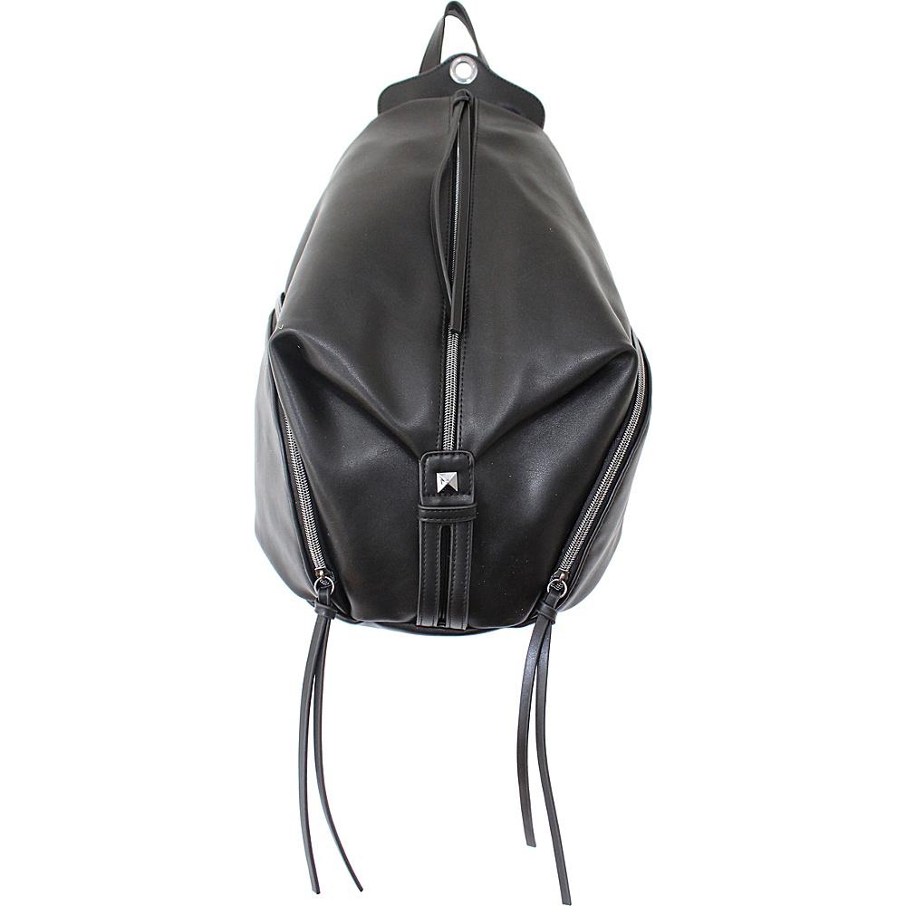T Shirt & Jeans Zipper Backpack Black T Shirt & Jeans Manmade Handbags