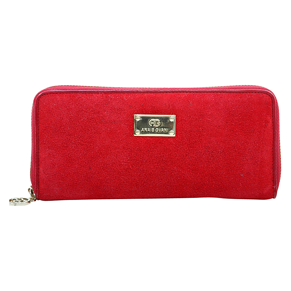 Dasein Womens Zip-Around Wallet with Gold Kissed Accents Red - Dasein Womens Wallets - Women's SLG, Women's Wallets