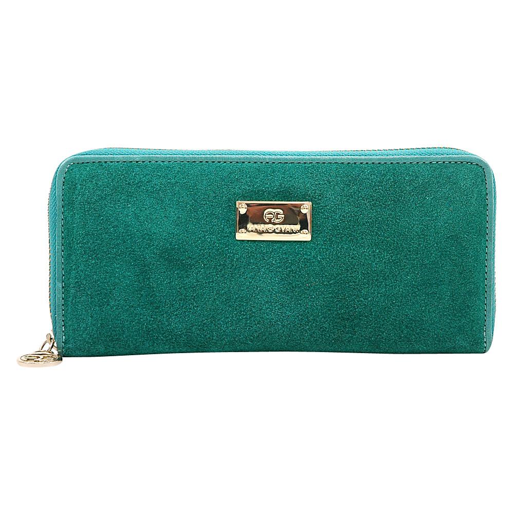 Dasein Womens Zip-Around Wallet with Gold Kissed Accents Light Green - Dasein Womens Wallets - Women's SLG, Women's Wallets