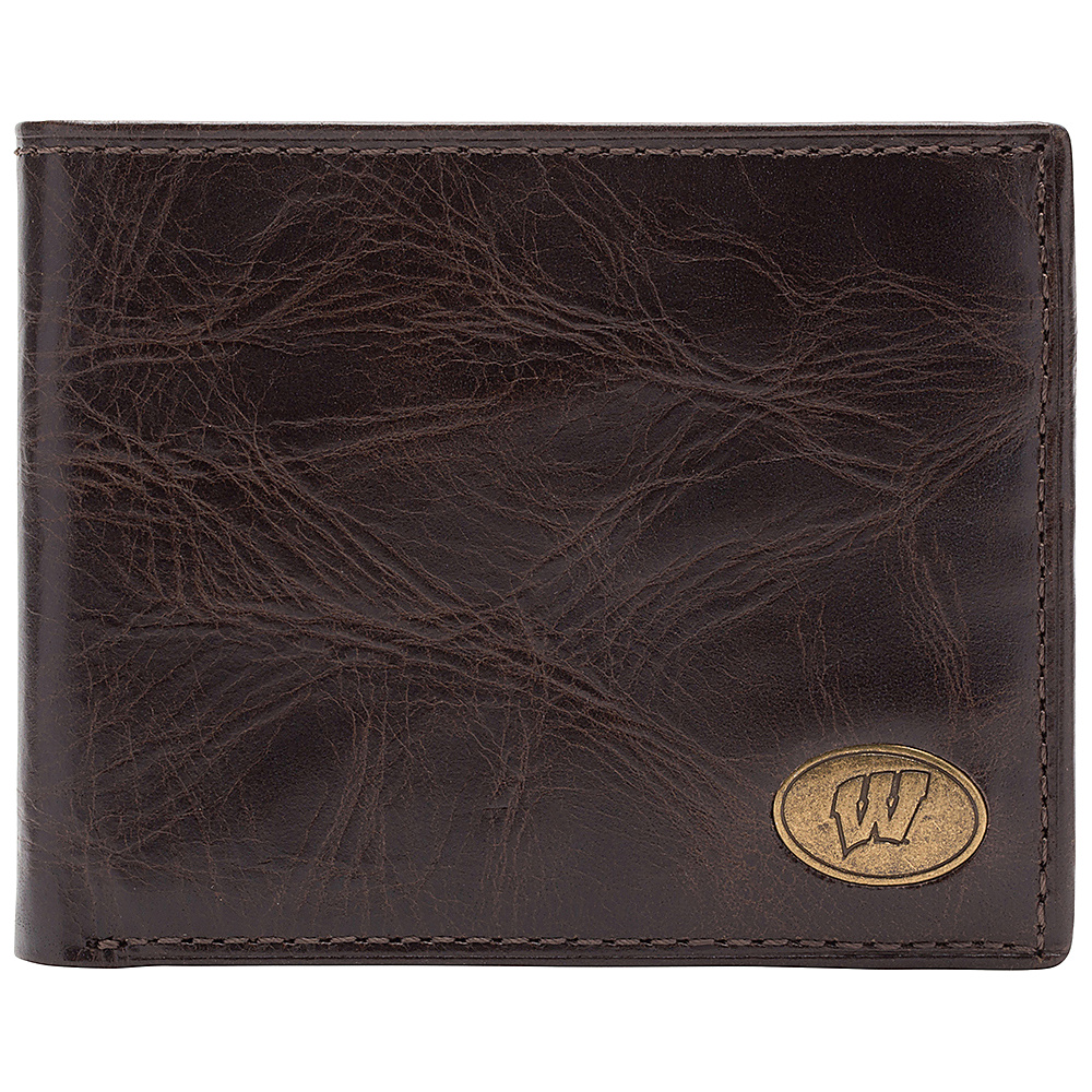 Jack Mason League NCAA Legacy Traveler Bifold Wallet Wisconsin Badgers - Jack Mason League Mens Wallets - Work Bags & Briefcases, Men's Wallets