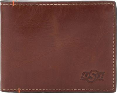 Jack Mason League NCAA Hangtime Slim Bifold Oklahoma State Cowboys - Jack Mason League Men's Wallets