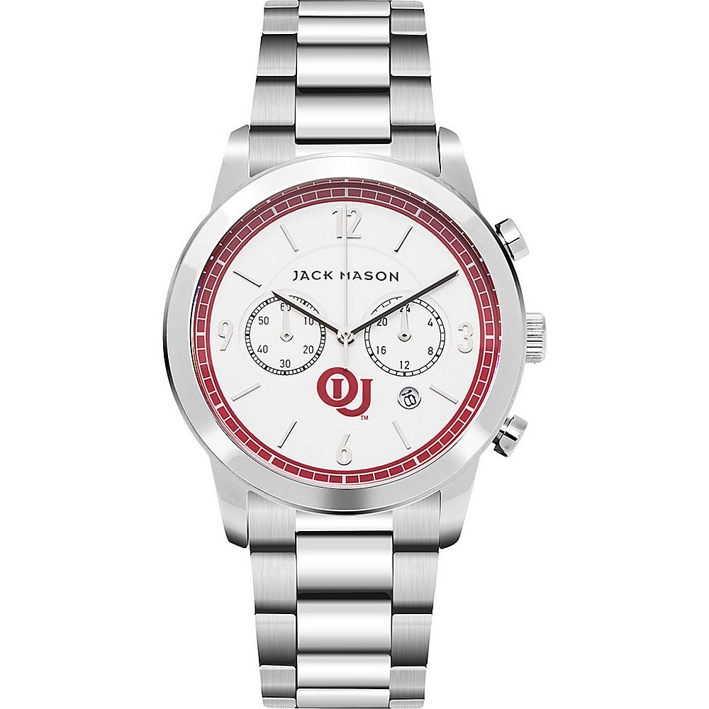Jack Mason League NCAA Chronograph Bracelet Watch Oklahoma Sooners - Jack Mason League Watches - Fashion Accessories, Watches