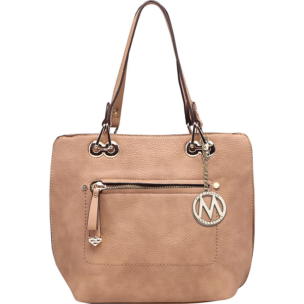 MKF Collection by Mia K. Farrow Jenna Satchel with Removable Strap Camel - MKF Collection by Mia K. Farrow Manmade Handbags - Handbags, Manmade Handbags
