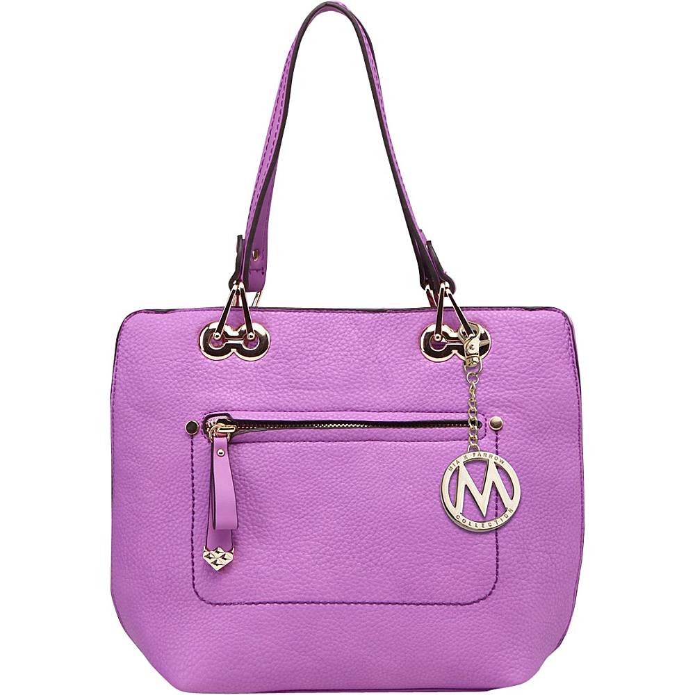 MKF Collection by Mia K. Farrow Jenna Satchel with Removable Strap Purple - MKF Collection by Mia K. Farrow Manmade Handbags - Handbags, Manmade Handbags