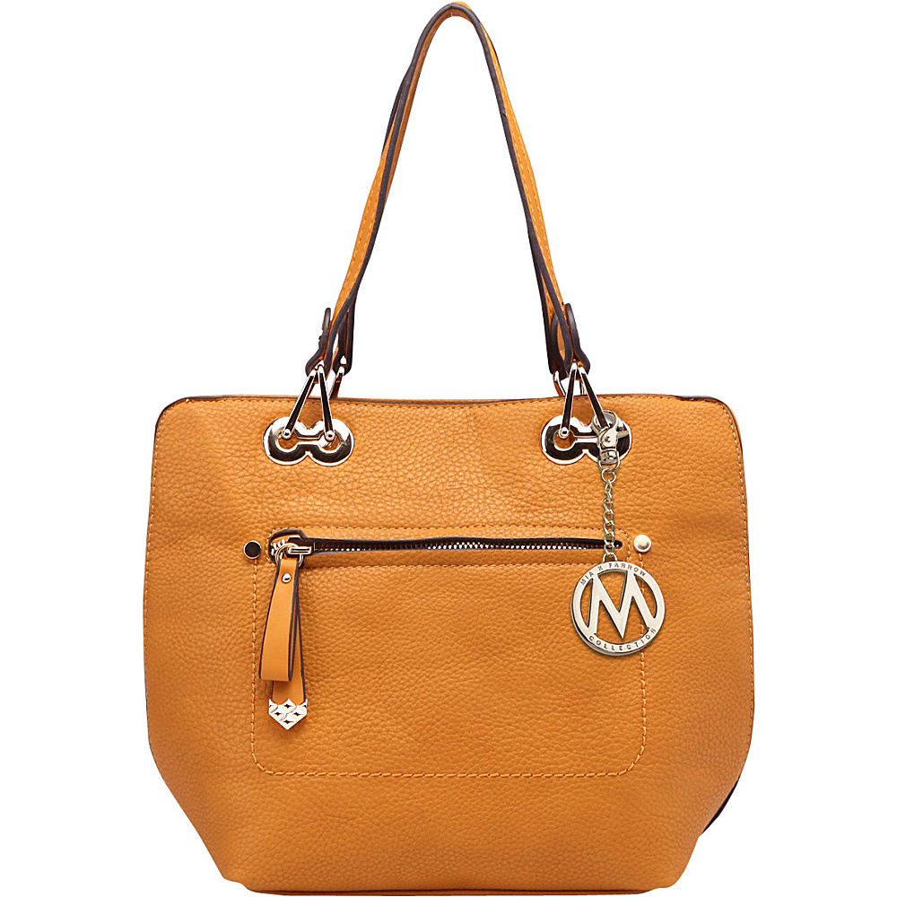 MKF Collection by Mia K. Farrow Jenna Satchel with Removable Strap Yellow - MKF Collection by Mia K. Farrow Manmade Handbags - Handbags, Manmade Handbags