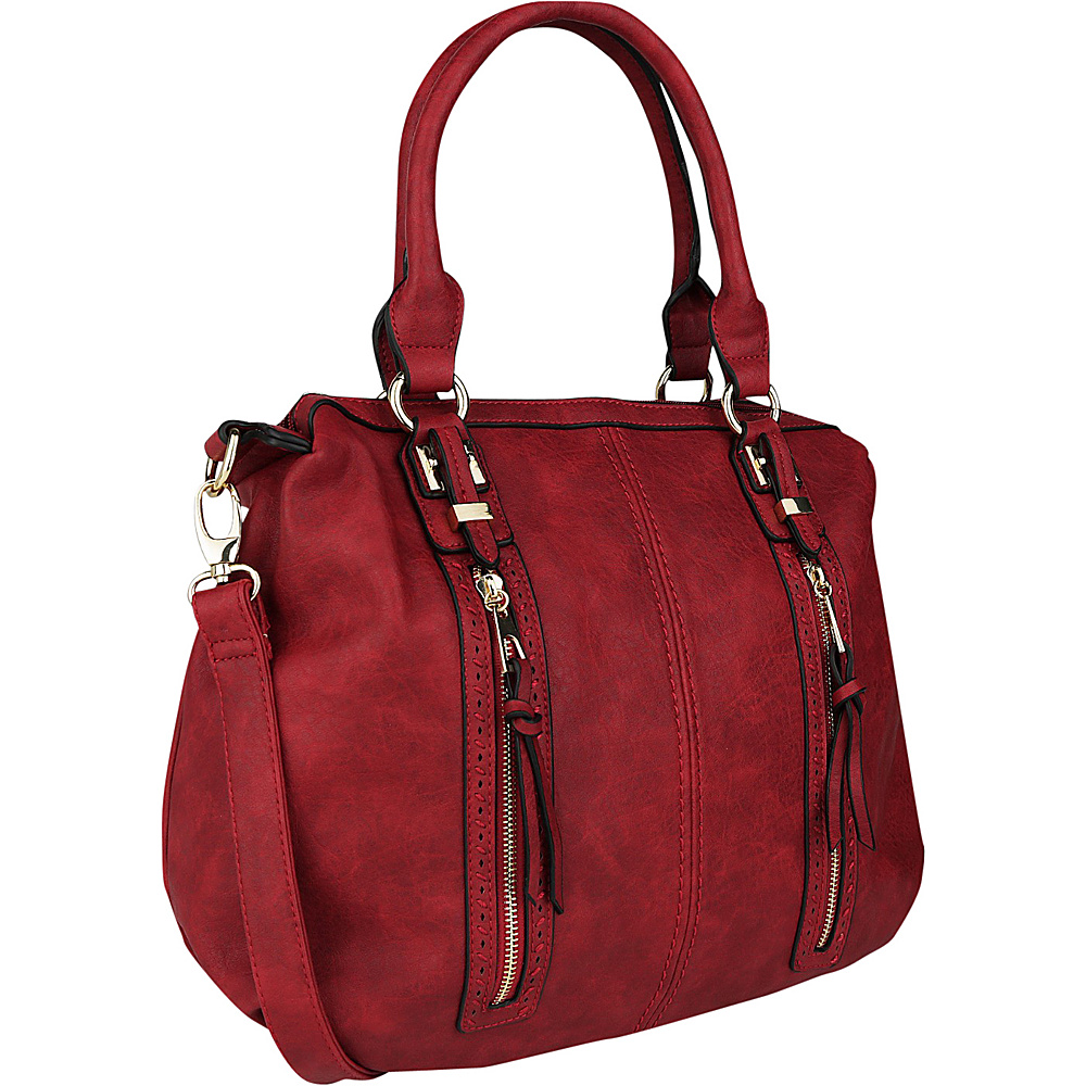 MKF Collection Pearl Overnighter Tote Burgundy - MKF Collection Manmade Handbags - Handbags, Manmade Handbags