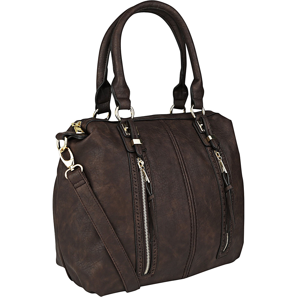 MKF Collection Pearl Overnighter Tote Coffee - MKF Collection Manmade Handbags - Handbags, Manmade Handbags