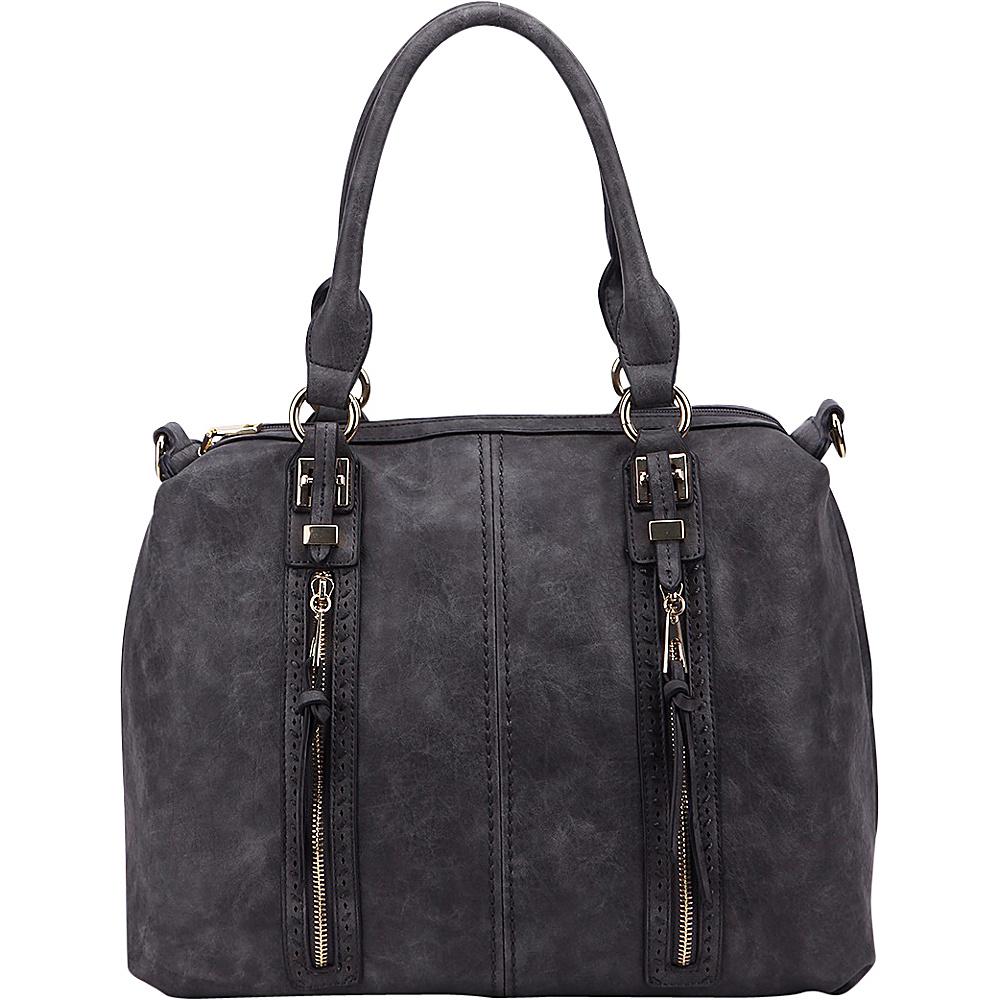 MKF Collection Pearl Overnighter Tote Dark Grey - MKF Collection Manmade Handbags - Handbags, Manmade Handbags