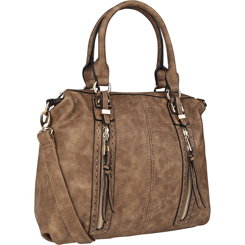 MKF Collection Pearl Overnighter Tote Khaki - MKF Collection Manmade Handbags - Handbags, Manmade Handbags