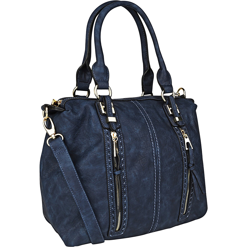 MKF Collection Pearl Overnighter Tote Navy - MKF Collection Manmade Handbags - Handbags, Manmade Handbags