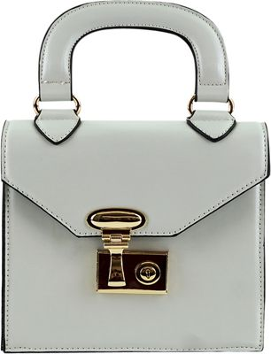 nu G Structure Mini Bag Crossbody Ivory - nu G Manmade Handbags