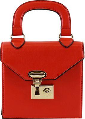 nu G Structure Mini Bag Crossbody Red - nu G Manmade Handbags