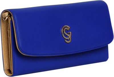 Gregory Sylvia Devereux Chain Wallet Cobalt Blue - Gregory Sylvia Leather Handbags