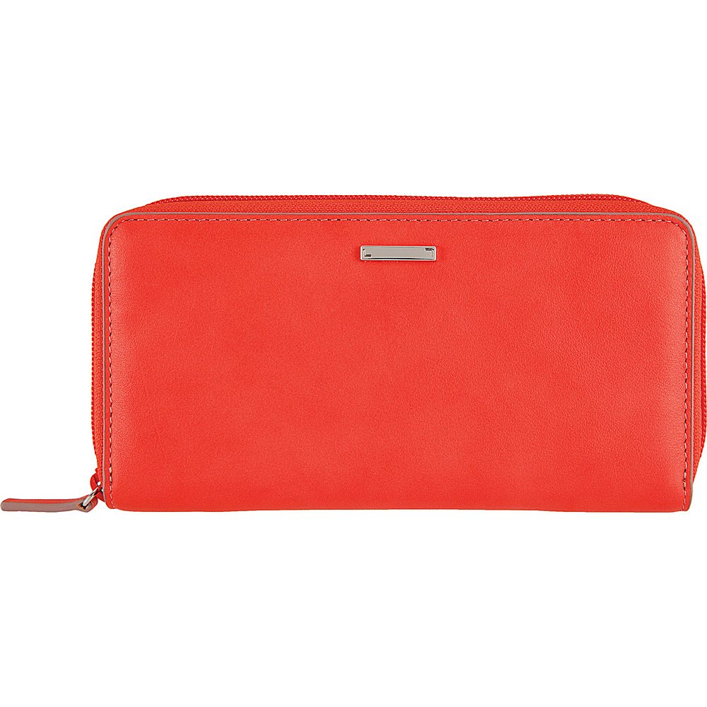Lodis Mill Valley Under Lock & Key Ada Zip Wallet Coral - Lodis Womens Wallets - Women's SLG, Women's Wallets