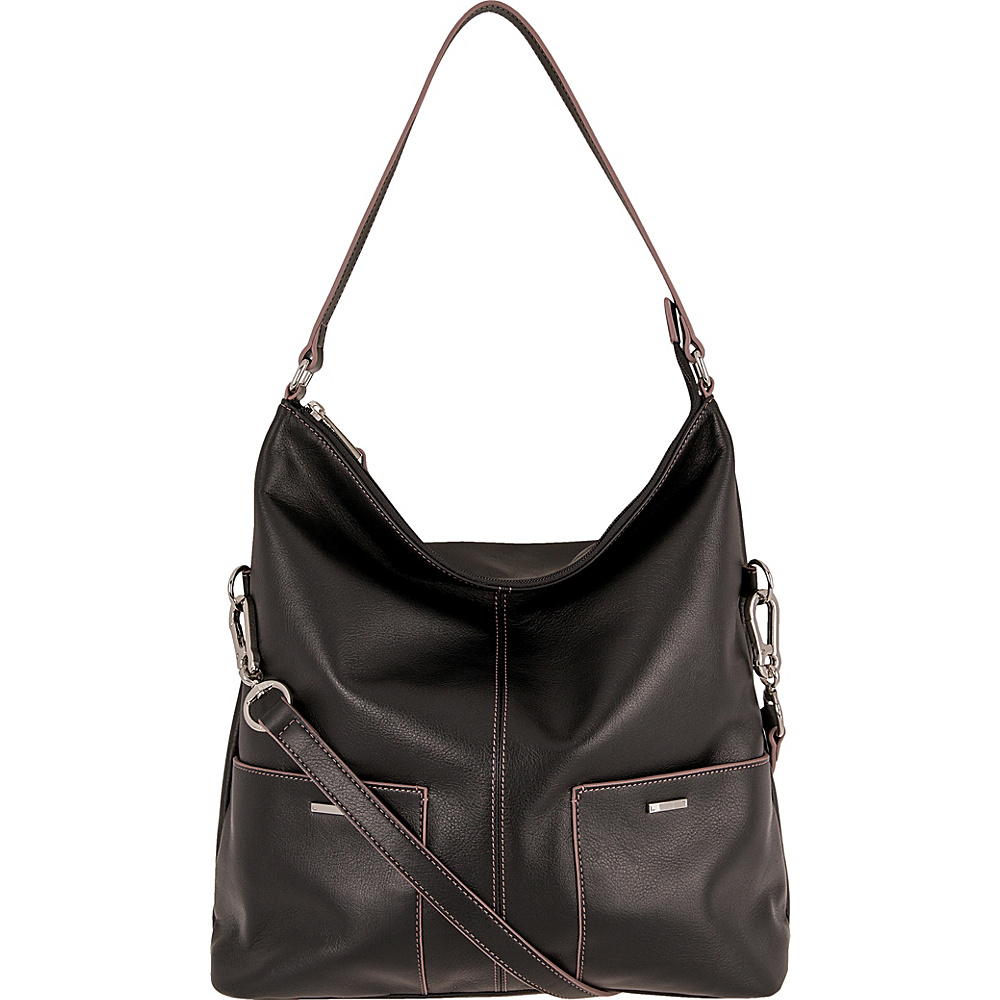 Lodis Mill Valley Under Lock & Key Tatiana Hobo Black - Lodis Leather Handbags - Handbags, Leather Handbags