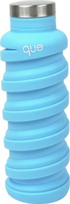 que Bottle Collapsible Silicone Water Bottle  20 oz Iceberg Blue - que Bottle Hydration Packs and Bottles