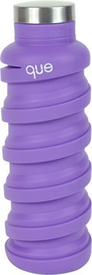 que Bottle Collapsible Silicone Water Bottle  20 oz Violet Purple - que Bottle Hydration Packs and Bottles
