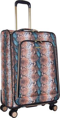 Aimee Kestenberg Bali 24 inch Spinner Blue Apricot Snake - Aimee Kestenberg Large Rolling Luggage