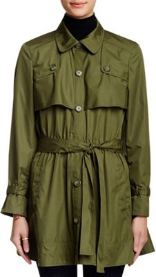 Rolo & Ale Vine Sinched Waist Trench Coat XS - Army Green - Rolo & Ale Women's Apparel