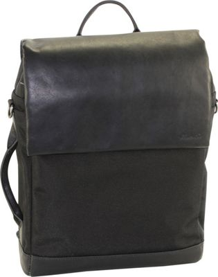 Kenneth Cole New York Business Single Compartment Flapover 15.0 Laptop Convertible Backpack Black - Kenneth Cole New York Business Laptop Backpacks