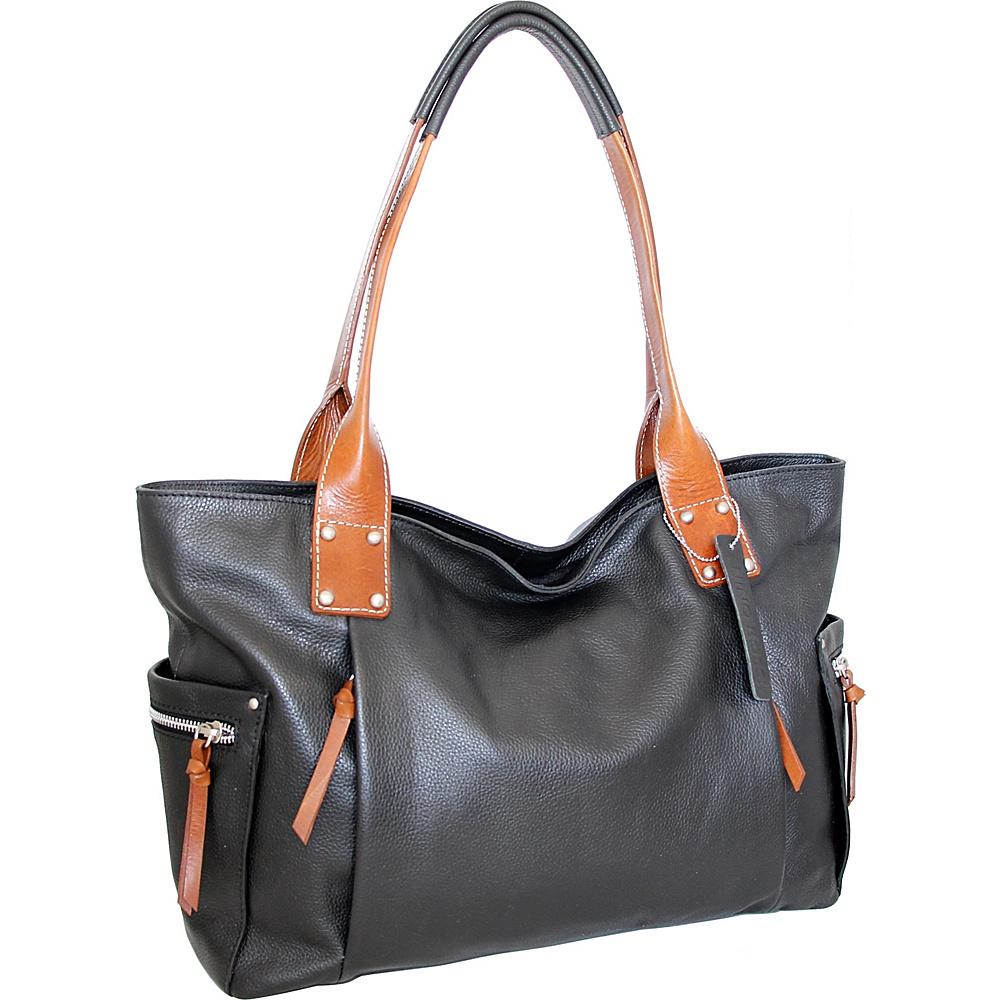 Nino Bossi Sylvie Shoulder Bag Black - Nino Bossi Leather Handbags - Handbags, Leather Handbags