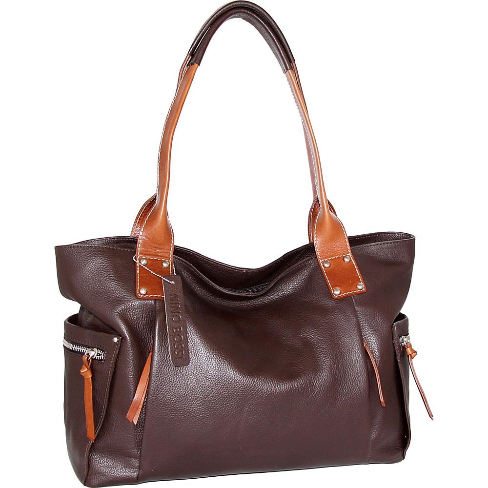 Nino Bossi Sylvie Shoulder Bag Chocolate - Nino Bossi Leather Handbags - Handbags, Leather Handbags
