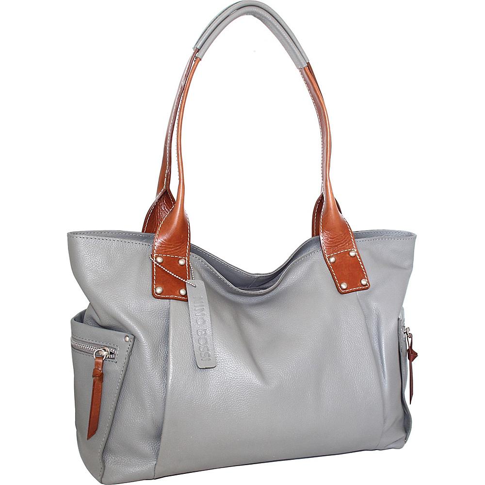 Nino Bossi Sylvie Shoulder Bag Stone - Nino Bossi Leather Handbags - Handbags, Leather Handbags