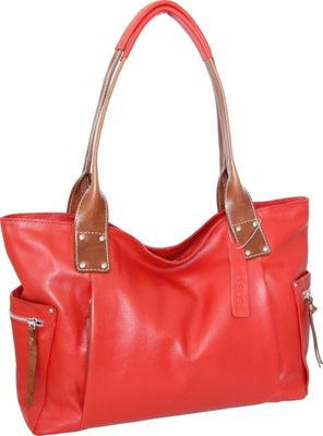 Nino Bossi Sylvie Shoulder Bag Tomato - Nino Bossi Leather Handbags