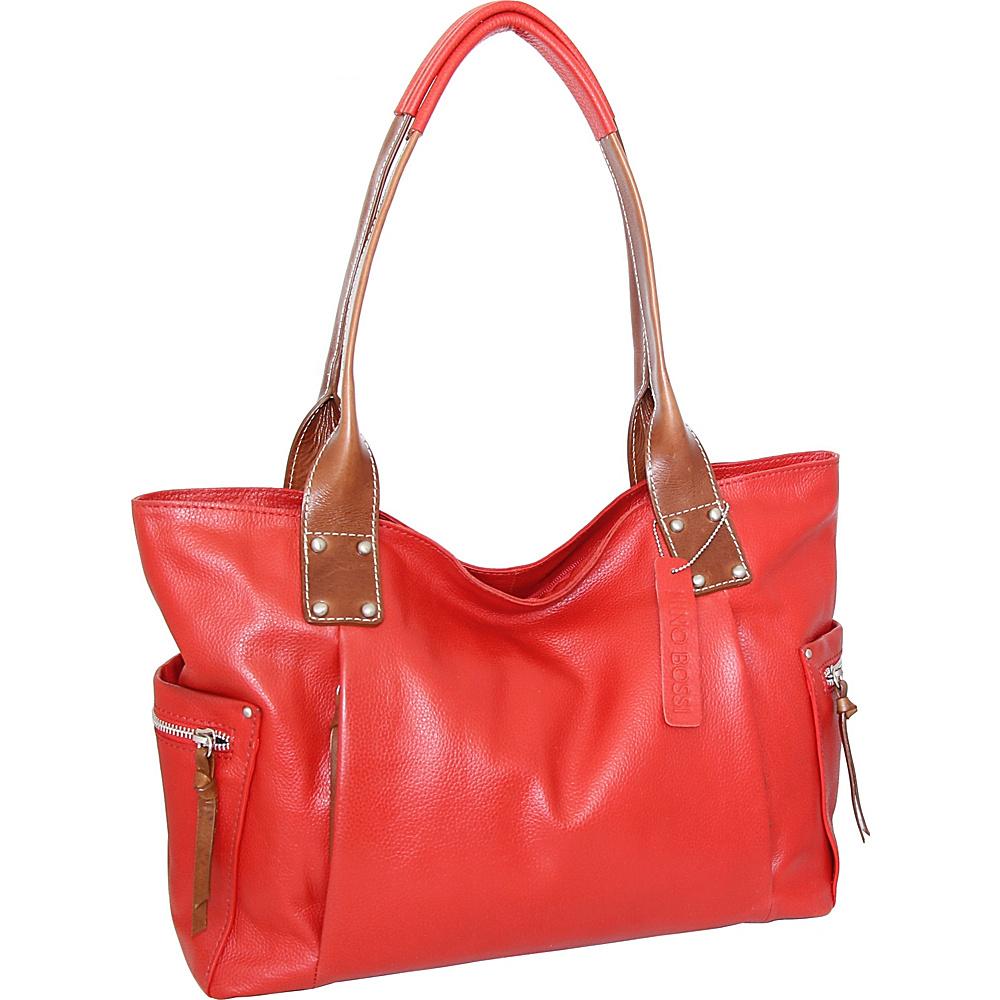 Nino Bossi Sylvie Shoulder Bag Tomato - Nino Bossi Leather Handbags - Handbags, Leather Handbags