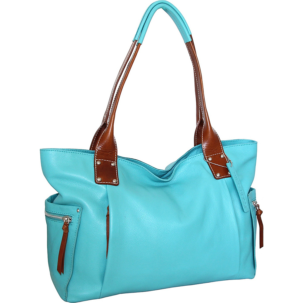 Nino Bossi Sylvie Shoulder Bag Turquoise - Nino Bossi Leather Handbags - Handbags, Leather Handbags