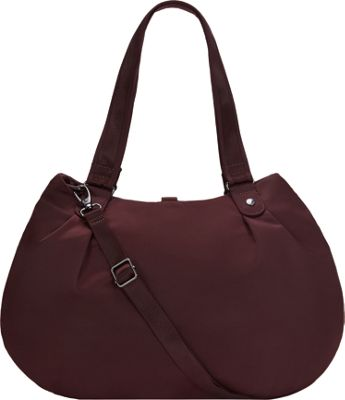 Pacsafe Citysafe CX Anti-Theft Hobo Merlot - Pacsafe Fabric Handbags