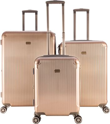 Gabbiano Genova 3 Piece Expandable Hardside Spinner Luggage Set Champagne - Gabbiano Luggage Sets