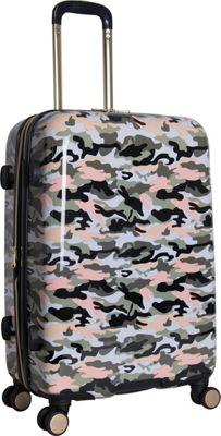 Aimee Kestenberg Sergeant 24 inch Hardside Spinner Green Camo - Aimee Kestenberg Large Rolling Luggage