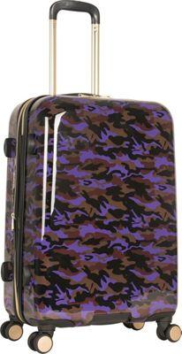 Aimee Kestenberg Sergeant 24 inch Hardside Spinner Purple Camo - Aimee Kestenberg Large Rolling Luggage
