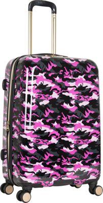 Aimee Kestenberg Sergeant 24 inch Hardside Spinner Pink Camo - Aimee Kestenberg Large Rolling Luggage