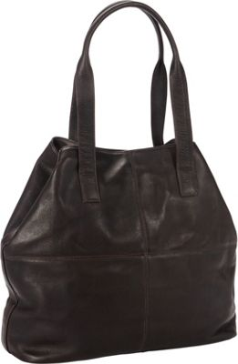 Petersons Shopping Shoulder Bag Brown - Petersons Leather Handbags