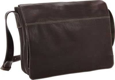 Petersons West End 15 inch Laptop Messenger Brown - Petersons Messenger Bags