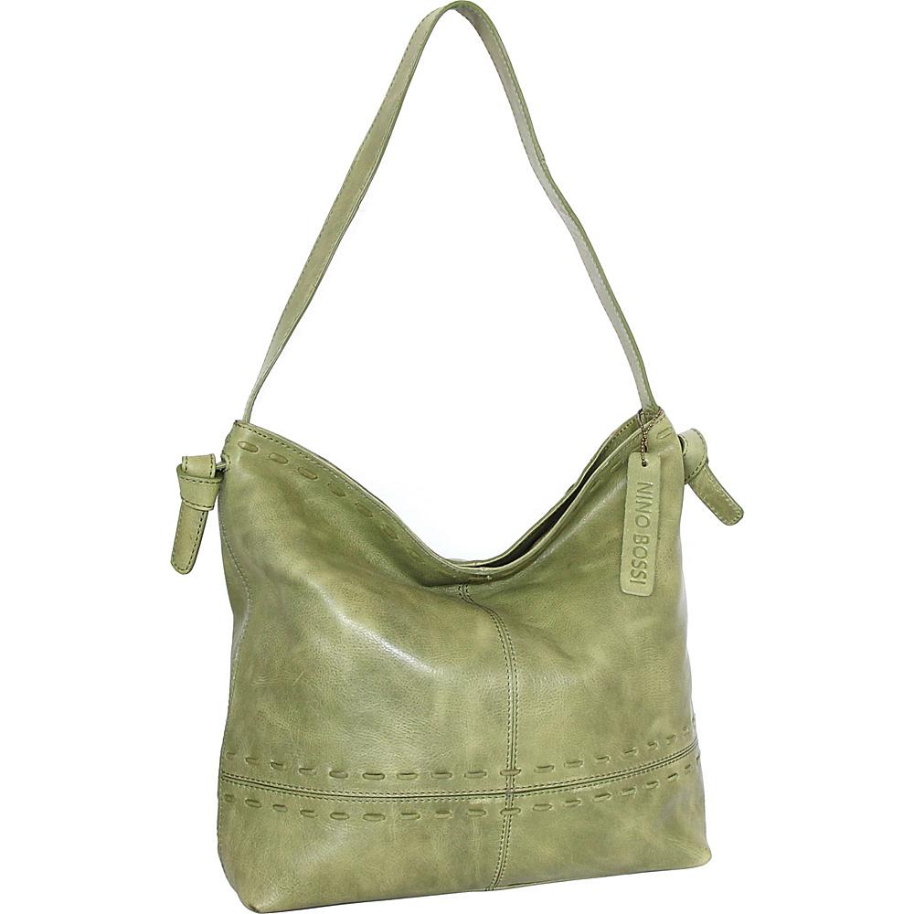 Nino Bossi Hollie Hobo Avocado - Nino Bossi Leather Handbags - Handbags, Leather Handbags