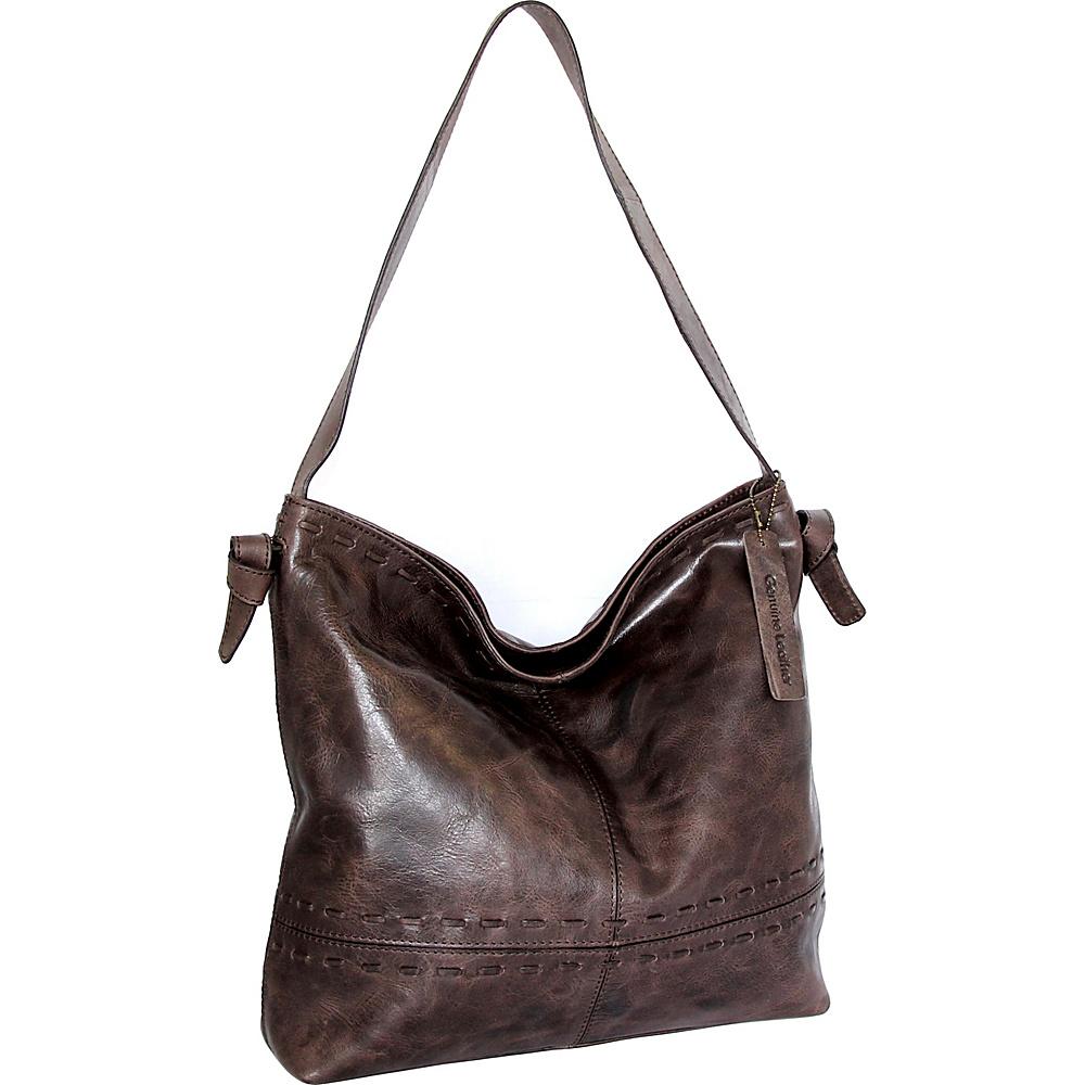 Nino Bossi Hollie Hobo Chocolate - Nino Bossi Leather Handbags - Handbags, Leather Handbags