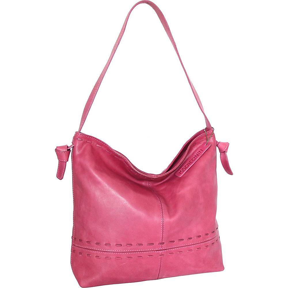 Nino Bossi Hollie Hobo Fuchsia - Nino Bossi Leather Handbags - Handbags, Leather Handbags