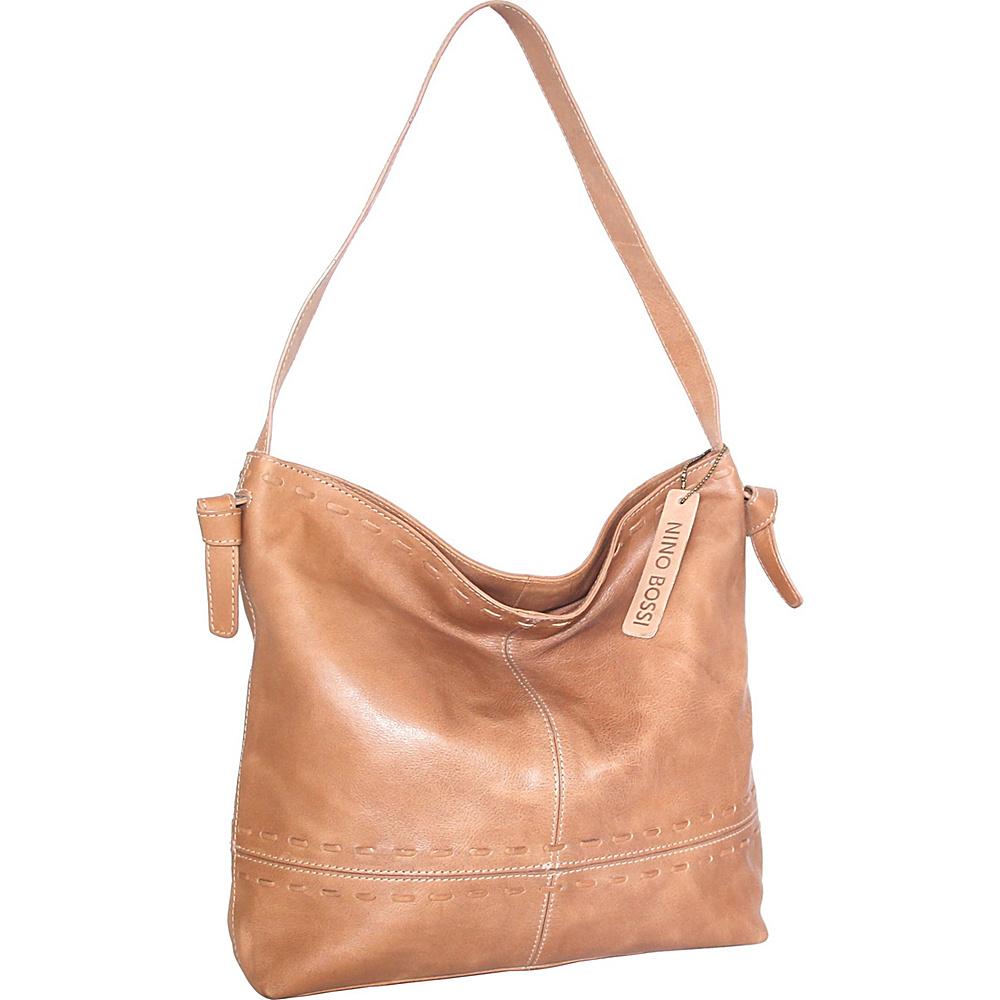 Nino Bossi Hollie Hobo Nut - Nino Bossi Leather Handbags - Handbags, Leather Handbags