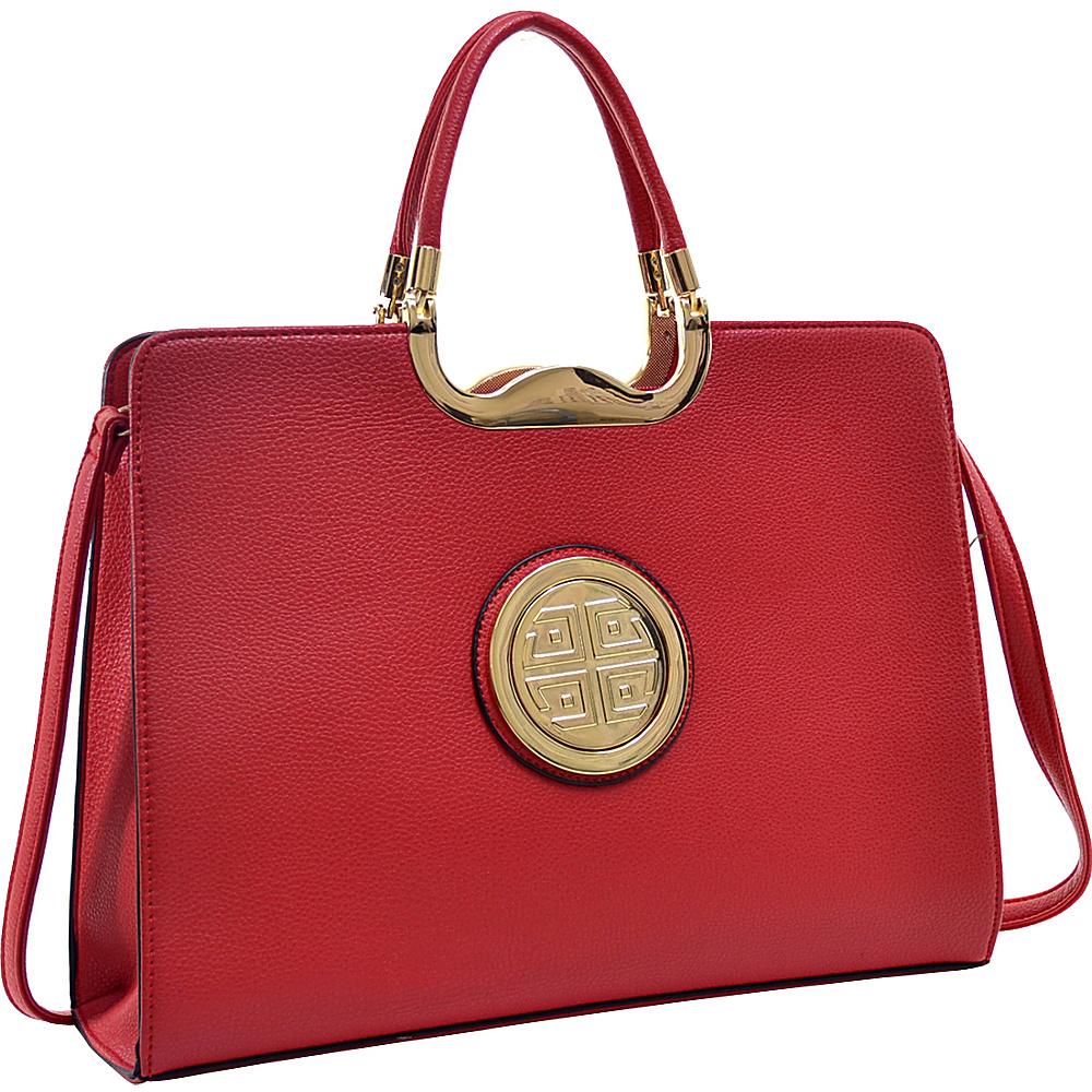 Dasein Classic Designer Top Handle Briefcase Satchel Red - Dasein Gym Bags - Sports, Gym Bags