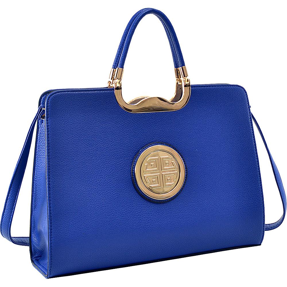Dasein Classic Designer Top Handle Briefcase Satchel Royal Blue - Dasein Gym Bags - Sports, Gym Bags
