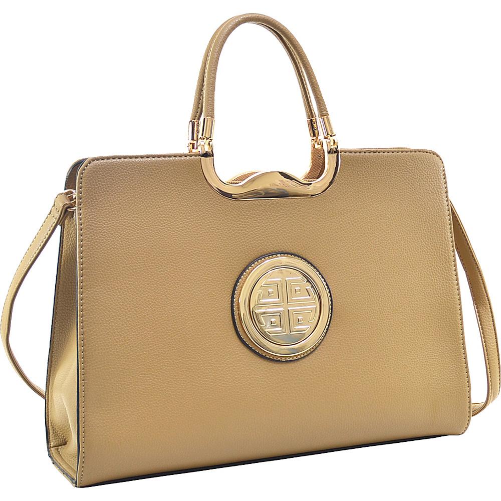 Dasein Classic Designer Top Handle Briefcase Satchel Sand - Dasein Gym Bags - Sports, Gym Bags