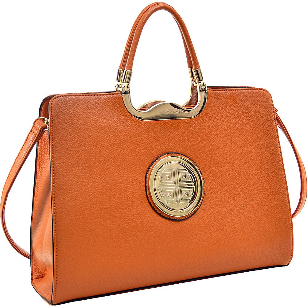 Dasein Classic Designer Top Handle Briefcase Satchel Orange - Dasein Gym Bags - Sports, Gym Bags