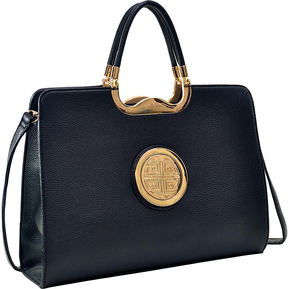 Dasein Classic Designer Top Handle Briefcase Satchel Black - Dasein Gym Bags - Sports, Gym Bags